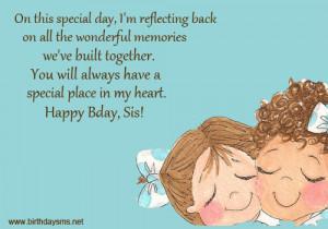 Lovely Happy Birthday to Older Sister