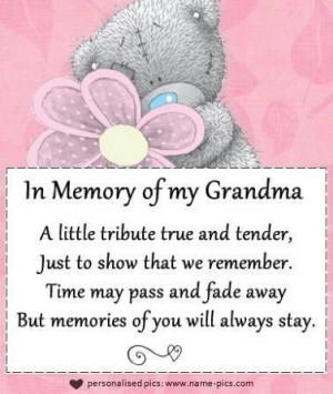 In memory of grandma