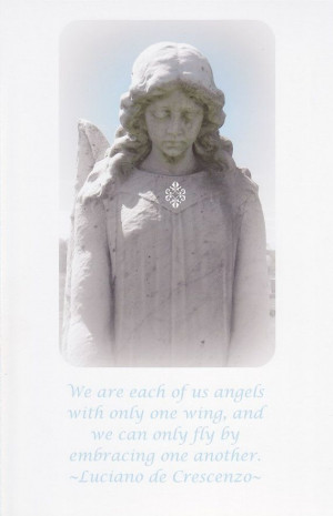 Broken Wing Angel large card and quote by StudioLolo2 on Etsy, $3.75