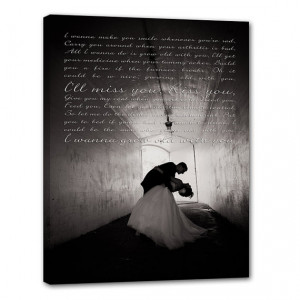 Your Photo Words Wedding Art Canvas Gallery Wrap , Engagement ...