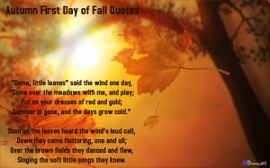 Autumn First Day of Fall Quotes Wallpapers