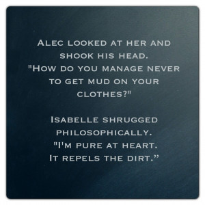 Alec Lightwood and Isabelle Lightwood (City of Ashes ~ Mortal ...