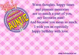 Funny Happy Birthday Wishes for Aunt