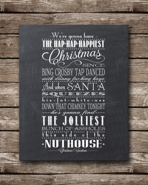 Christmas Vacation Quote - Clark Griswald - Printable Poster ...
