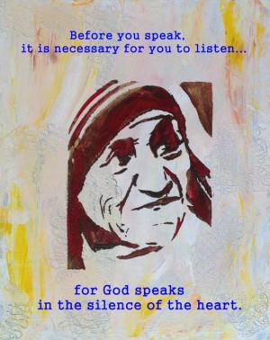 Mother Teresa quote, inspirational art, religious art, print, catholic ...