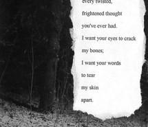 poem, twisted, words