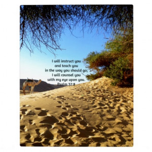 Bible Verses Inspirational Quote Psalm 32:8 Photo Plaque