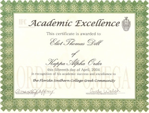 Academic Excellence Award...