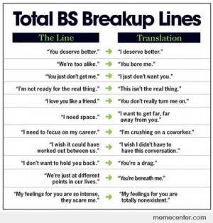 Break up lines: Real Meanings
