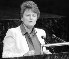 Gro Harlem Brundtland: By info that we know Gro Harlem Brundtland ...