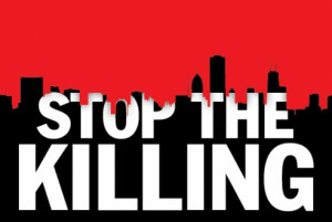 ... end the violence. Starting today. Image from TimeOut Chicago's pages