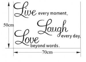 20pcs wholesale Live Laugh Love Wall Art Sayings 50*70cm DIY Removable ...