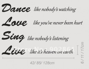 funlife 100x140cm vinyl dance love sing live wall quotes quotes