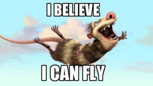 believe, can fly, funny, ice age