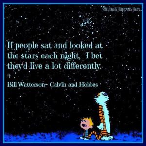 Star gazing Calvin and HobbesSky Quotes, Stars Gazing, Stars Dust ...