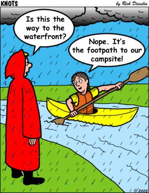 Kayaking Cartoon Page