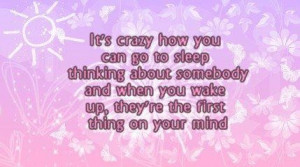 Love quotes and sayings crazy thinking