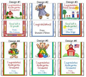 Kindergarten Preschool Graduation Mini Candy Wrappers Favors