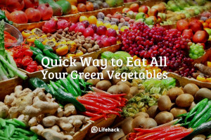 quick way to eat all green vegetables you need