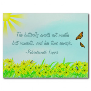 Precious Moments Butterflies Quote Post Card