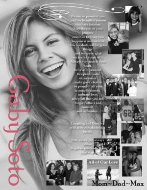 Custom Personalized Photo Senior Yearbook Page