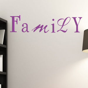 Family Mixed Font Wall Sticker Quote Vinyl Decal Art