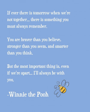 Winnie the Pooh Quote! BABY ROOM
