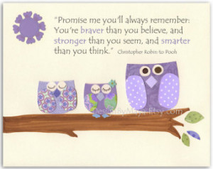 quotes owl wall decals for girls room