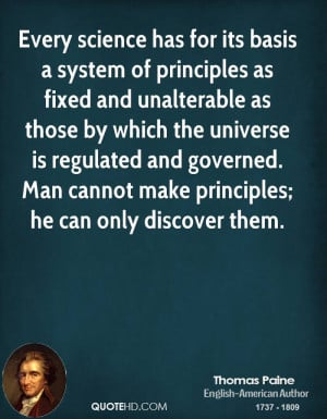 Thomas Paine Science Quotes