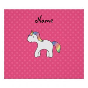 Rainbow baby unicorn pink polka dots print
