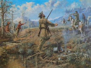 Native American - The Death Of John Bozeman (Drawing & Painting)