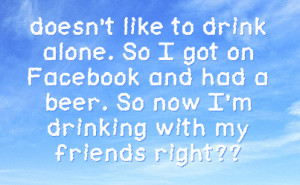 Drinking Facebook Status On Sky Background