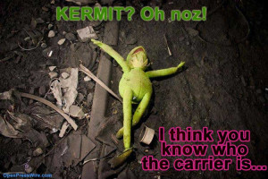 ... for this well loved star. Rest in peace Kermit. Dang you, Miss Piggy