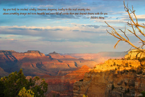 Grand Canyon Splendor - With Quote Photograph