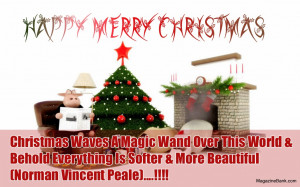 Happy Merry Christmas Quotes With Wishes Greeting Card Imges