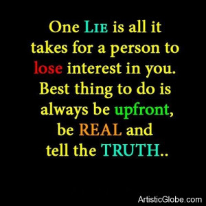 One Lie is all it Quote