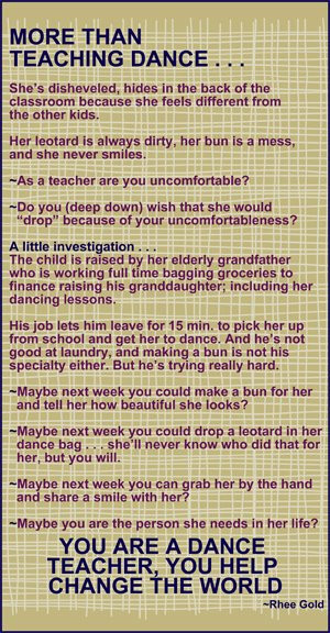 Thank You Quotes For Dance Teachers She's disheveled, hides in the ...