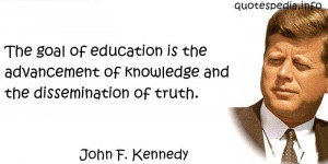 John F Kennedy Quotes Education