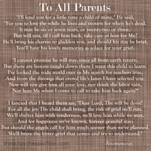 wanted to share this touching poem with you in hopes that it brings ...