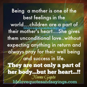Being A Mother ..