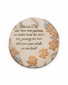 Pet Memorial Stone - Paw Prints On My Heart
