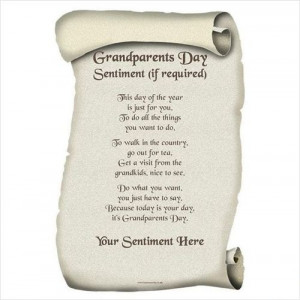 Roll Of Paper Bring The Grandparents Day Poems Pictures.