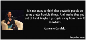 It is not crazy to think that powerful people do some pretty horrible ...