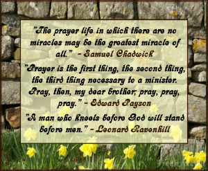 Great Quotes on the subject of 'Prayer'