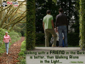 Walking With Friend Quote Picture and Friendship SMS For Sweet Friends ...