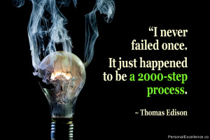 """Inspirational Quote: """"I never failed once. It just happened to be a ..."""