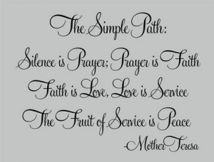... Mother Teresa, The Simple Path vs. 2, Celebrity Wall Art Decal Quote