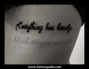 Word Tattoo Quotes ~ 3 Word Love Quotes For Tattoos