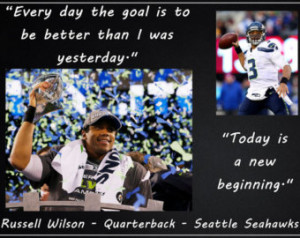 Poster Russell Wilson Seattle Seahawks Photo Quote Poster Wall Art ...