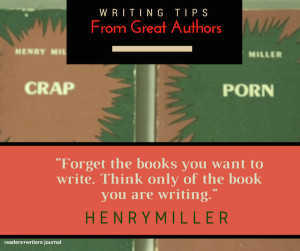 ... writing tips from famous authors that may be of help to writers